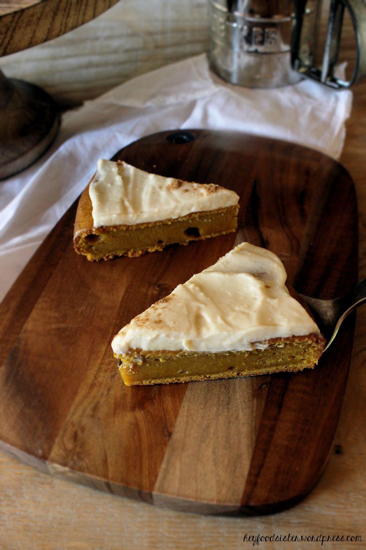 Rezept für einen Kürbiskuchen mit Ahornsirupfrosting Hey Foodsister Blog