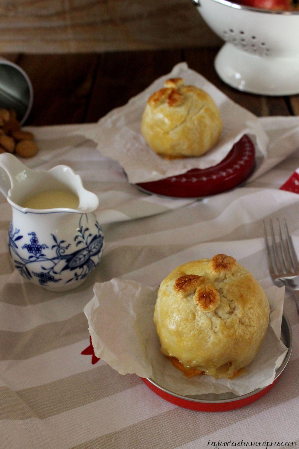 Rezept für Bratäpfel im Pieteig mit Amarettinifüllung Hey Foodsister