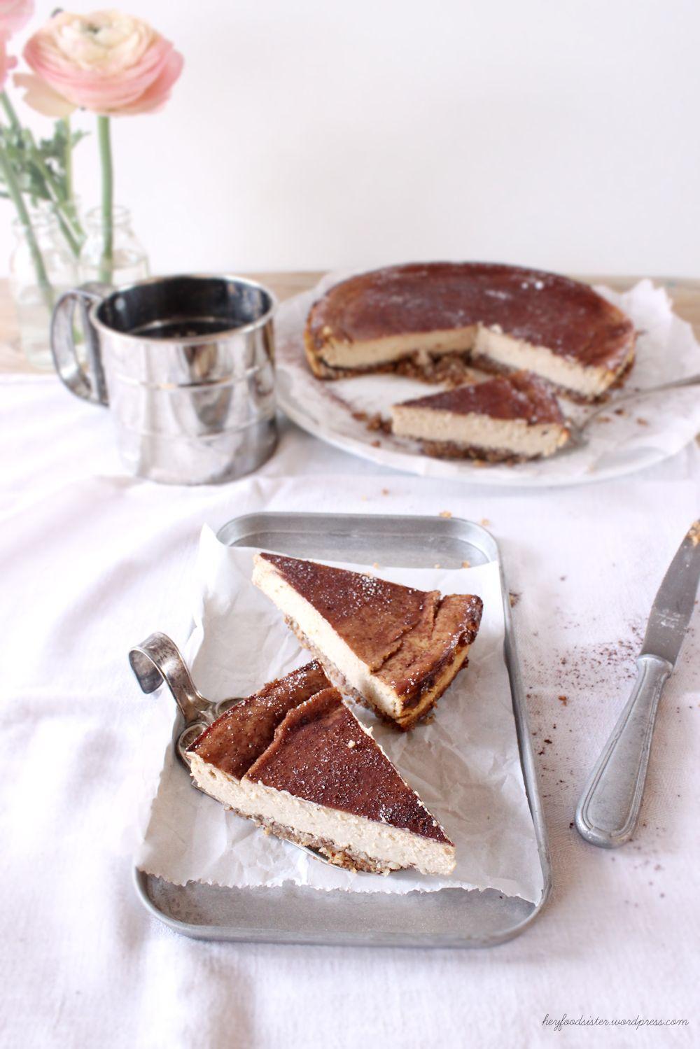 Rezept für einen Ricotta Espresso Cheesecake Hey Foodsister