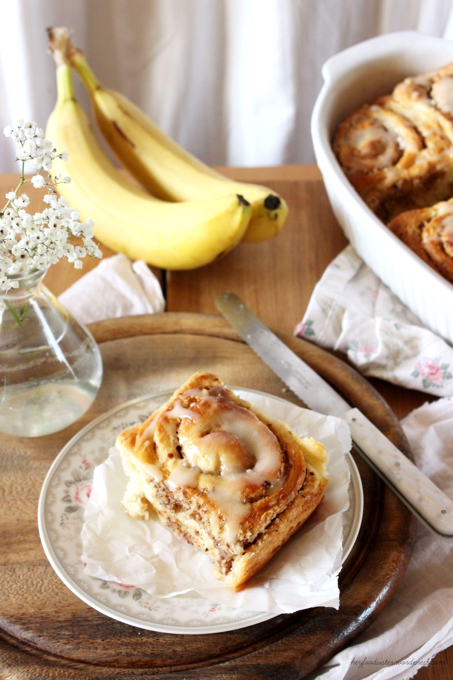 Rezept für Zimtschnecken mit Banane