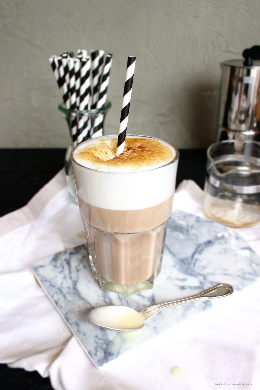 Rezept für eiskalten Eiskaffee Brulee