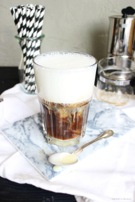 Rezept für eiskalten Eiskaffee