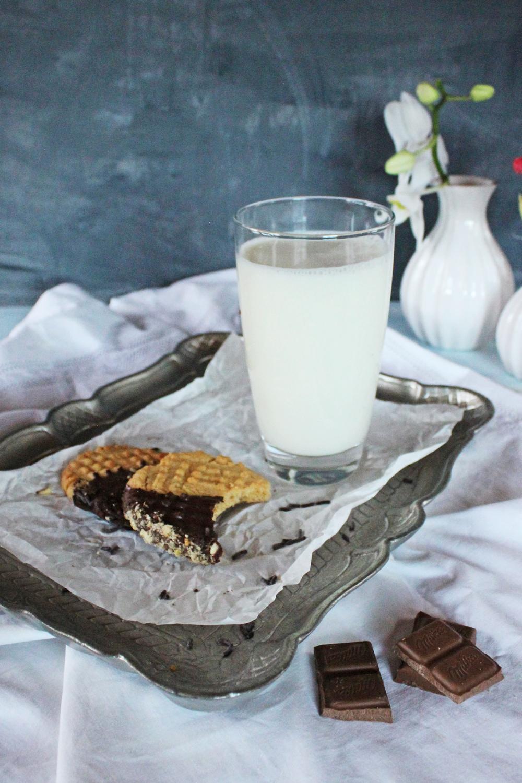 Rezept für Schokoladen Bananencrunch Erdnusbuttercookies