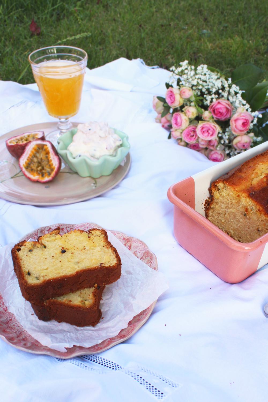 Rezept für einen Buttermilch Kuchen mit Mango Und Maracuja Hey Foodsister Backrezept