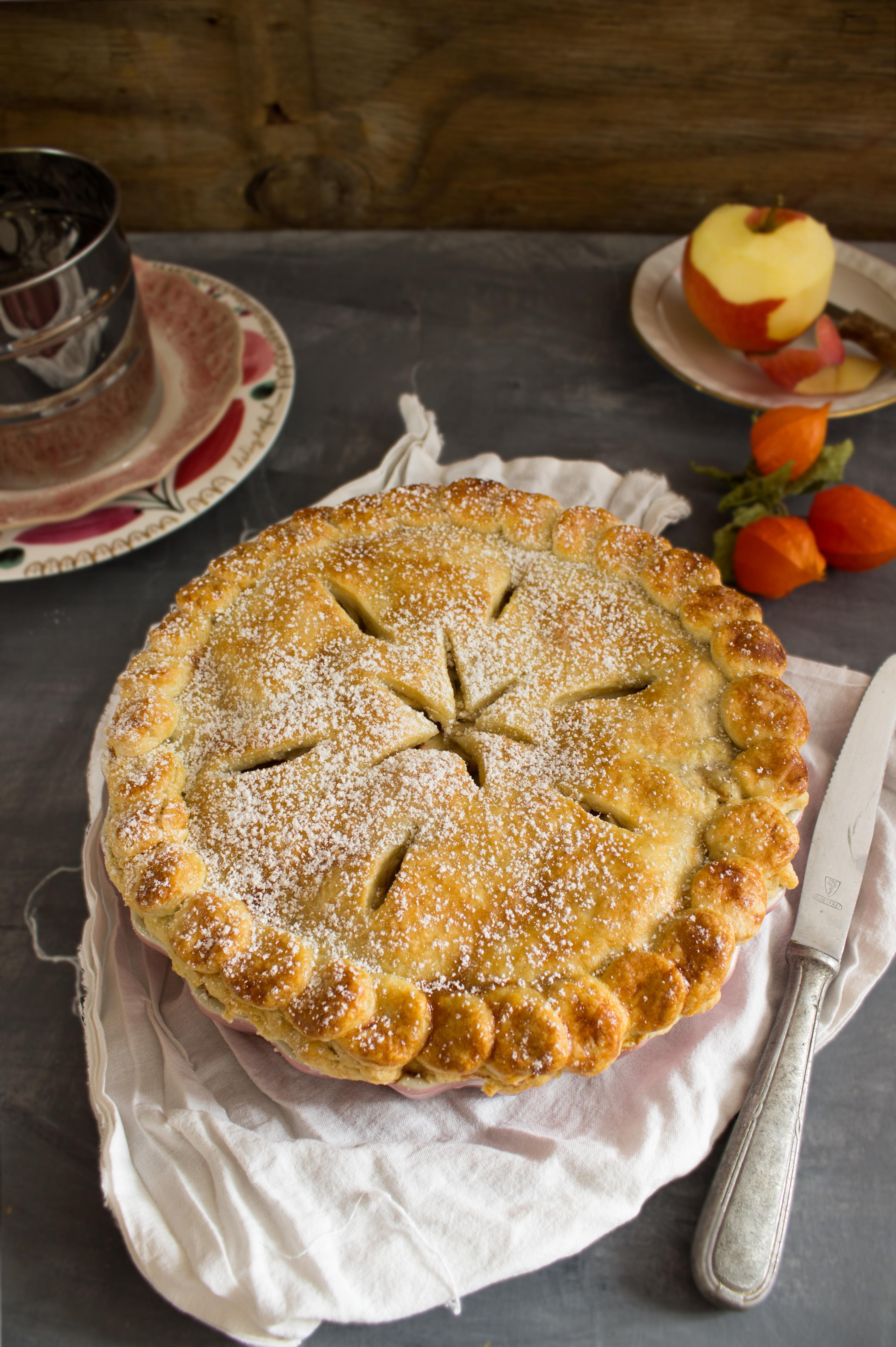 Rezept für einen Chai Spiced Apple Pie, der an kalten ...
