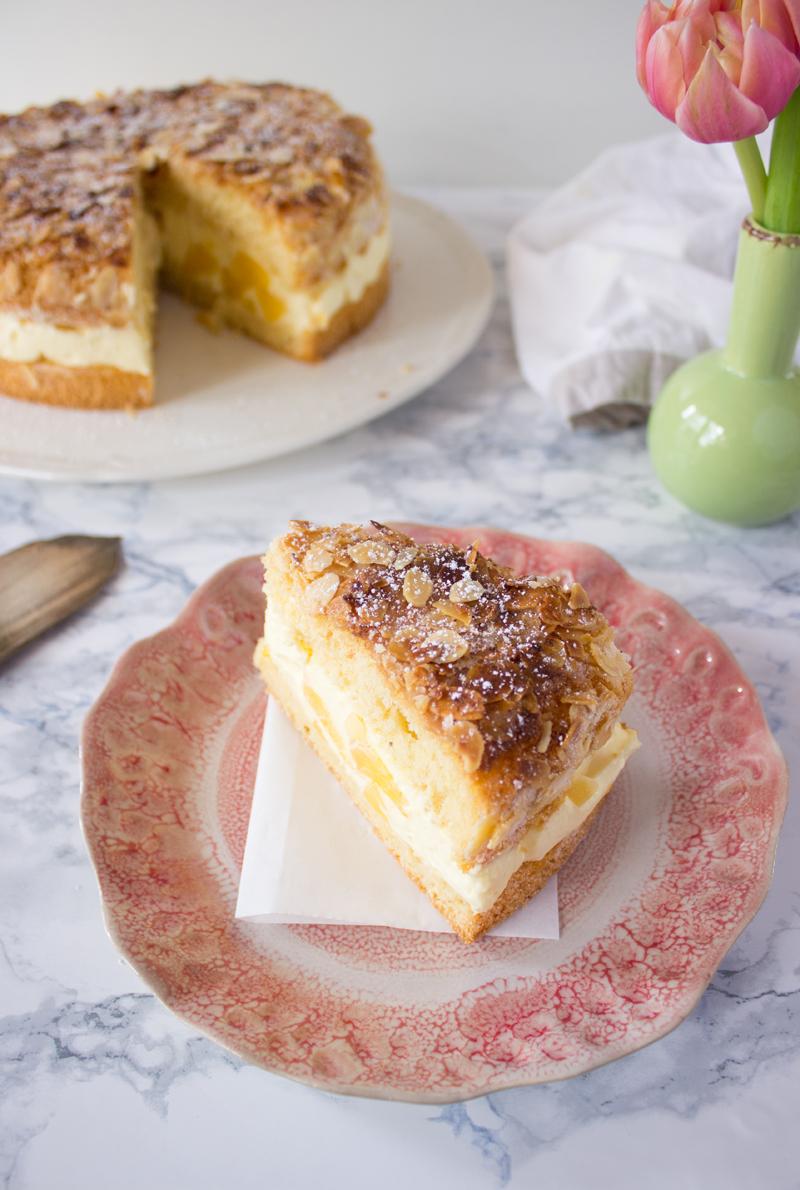 Rezept für Bienenstich Kuchen Klassiker