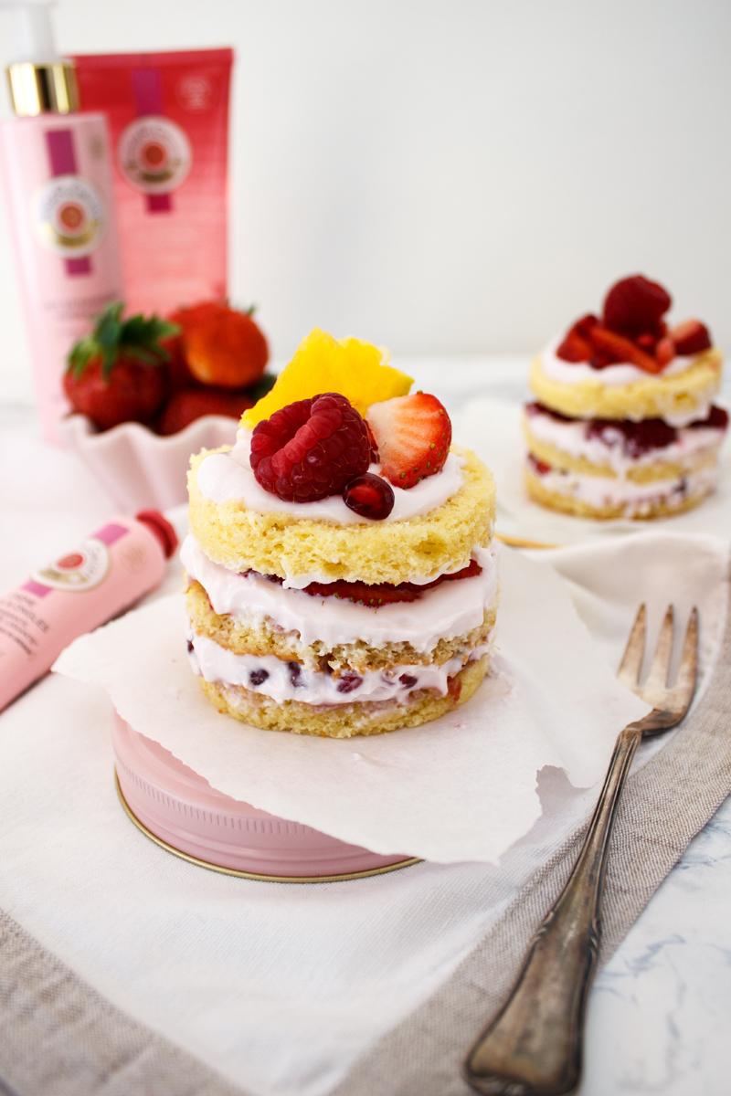 Rezept für ein Muttertags Törtchen mit Granatapfelcreme