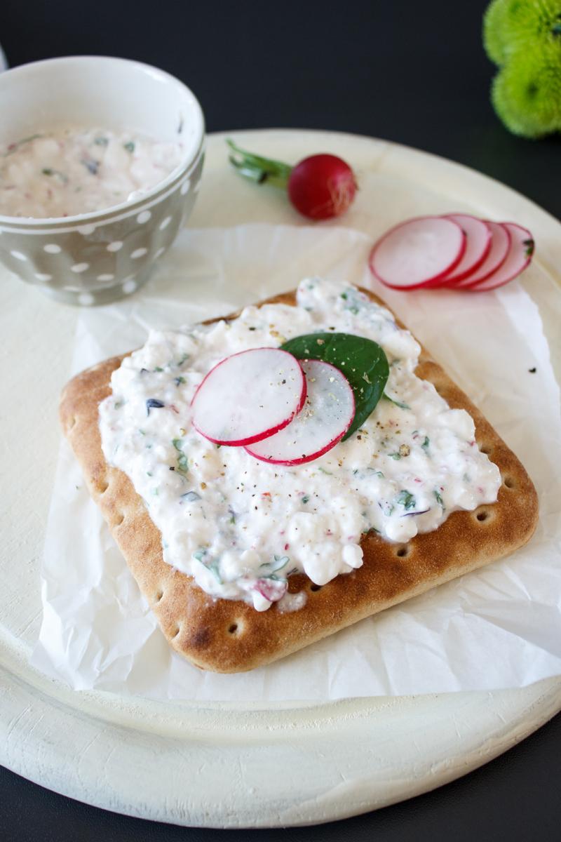Rezept für ein Softbrod Sandwich mit Radieschencreme