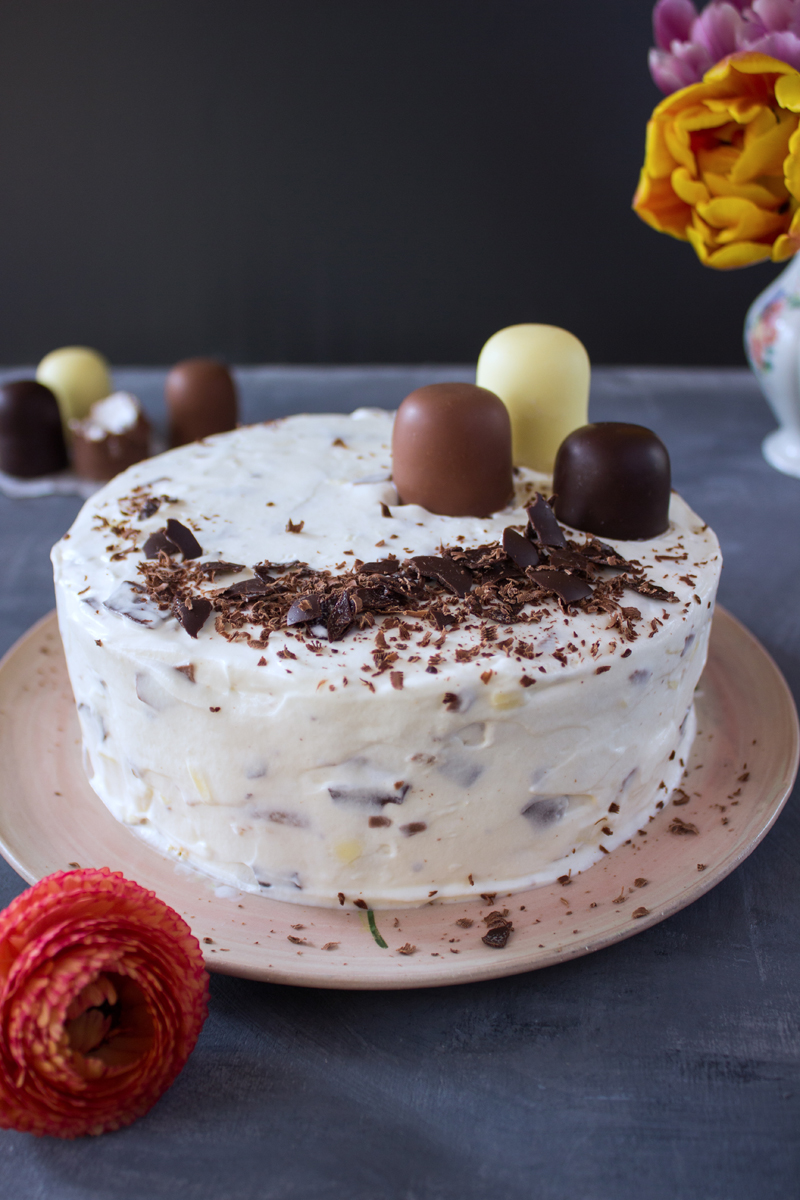 Rezept für eine Schokokuss Torte
