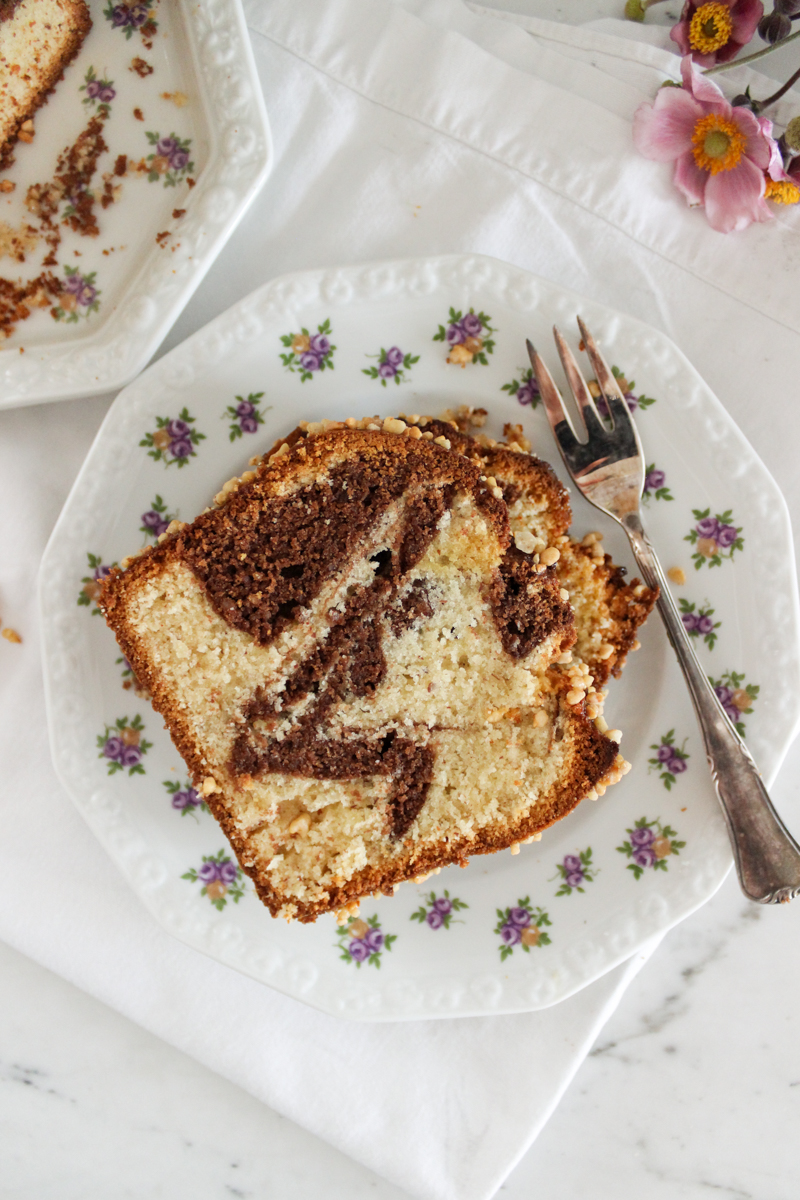 Rezept für einen nussigen Marzipan-Marmorkuchen