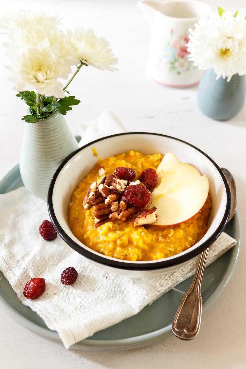 Rezept für Pumpkin Pie Oatmeal