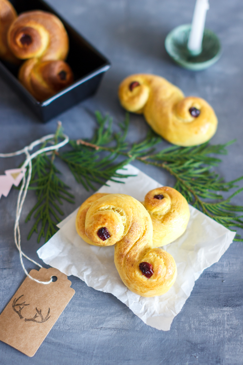 Rezept für Lussekatter schwedisches Safrangebäck