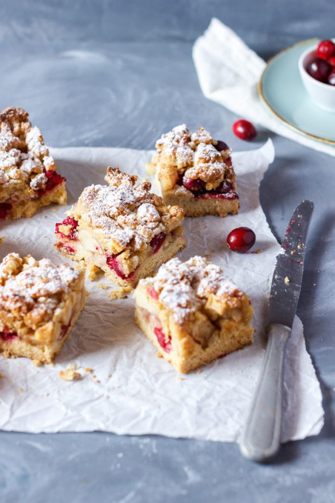 Apfel Cranberry Streuselkuchen