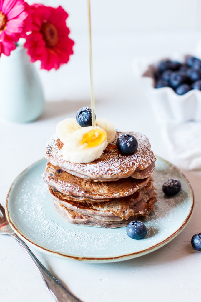 Beeren Smoothie Pancakes