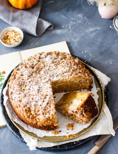 Kürbiskuchen mit Cheesecakeswirl
