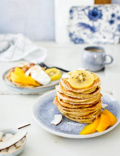 Kokos Buttermilch Pancakes