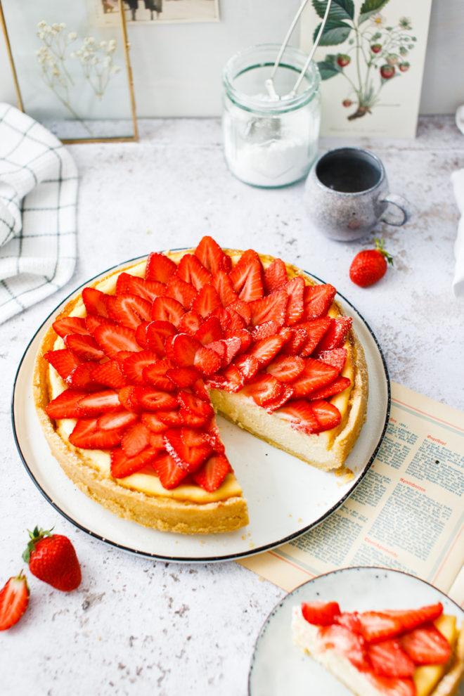 klassischer Kaesekuchen mit Quark