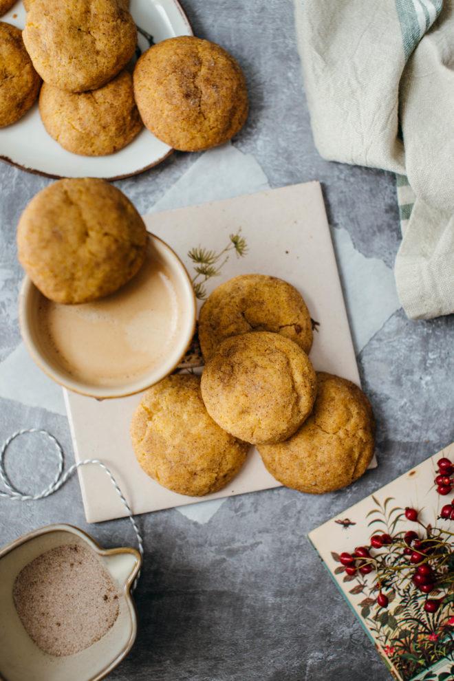 Kürbis Snickerdoodle Cookies
