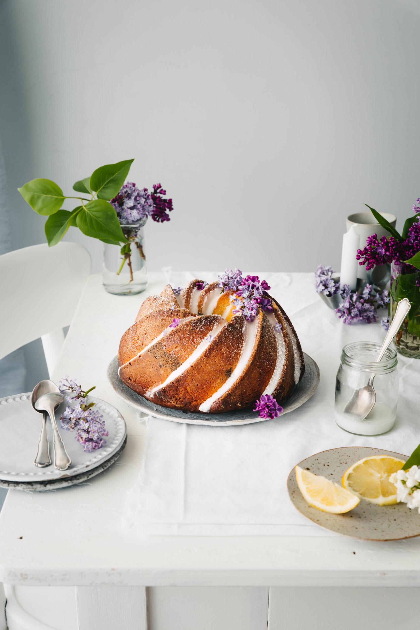 Mohn Marmorkuchen mit Zitrone