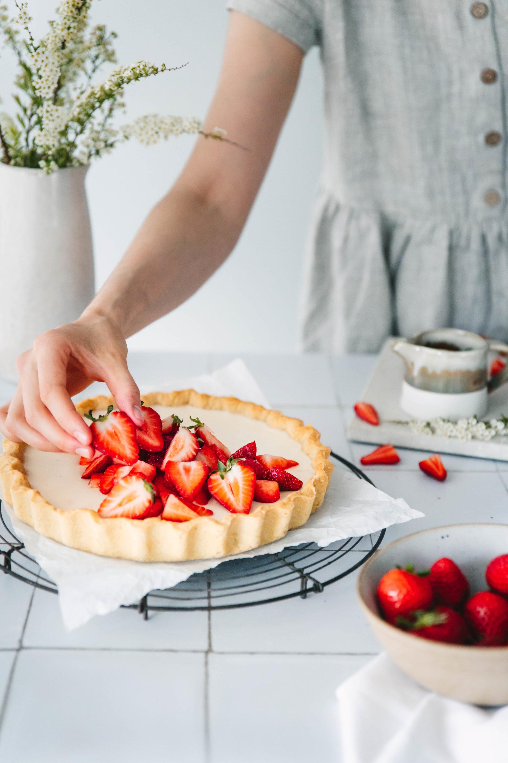 Erdbeer Panna Cotta Tarte