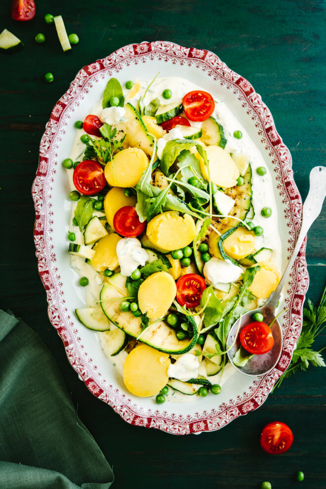 Kartoffelsalat mit Quark